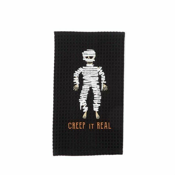 Halloween Waffle Weave Hand Towel
