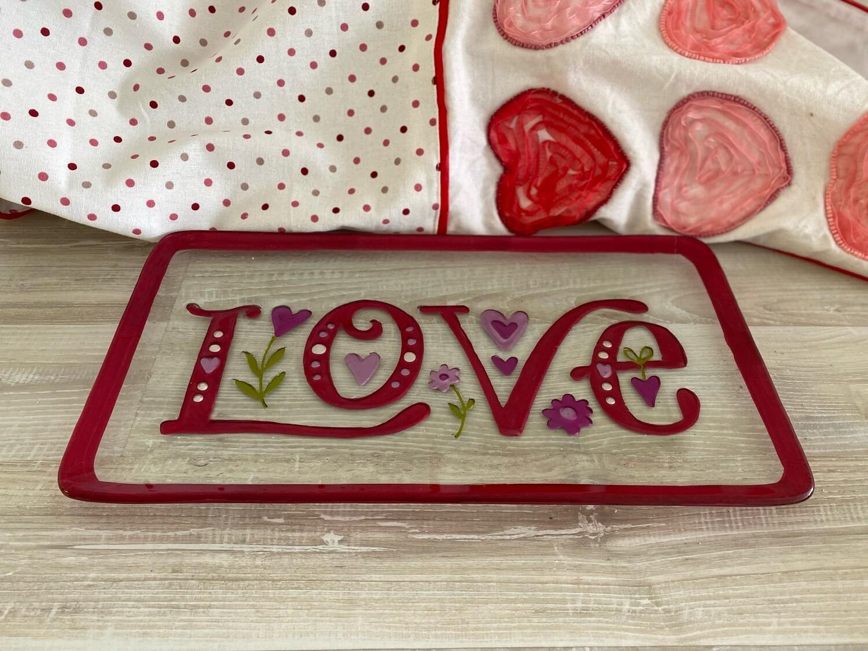Glass Love & Heart Plates