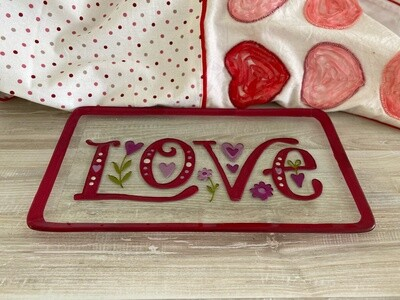 Glass Love & Heart Plates