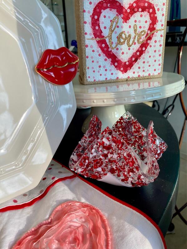 Handkerchief Glass Votive Candle Holders
