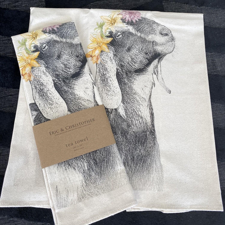 Halo of Flowers Tea Towel