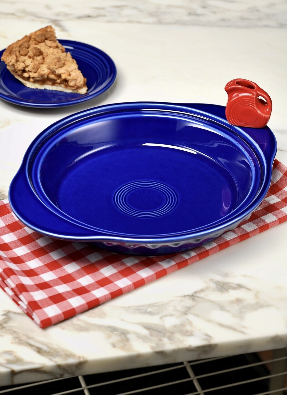 Exclusive 2021 FIESTA & Nora Fleming Deep Dish Pie Plate with Handles