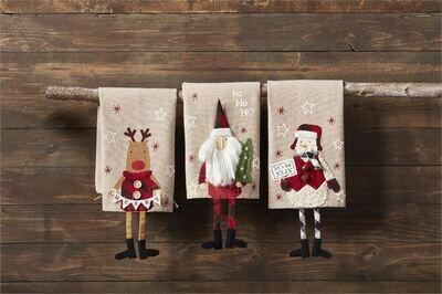 Dangle Leg Christmas Tea Towel
