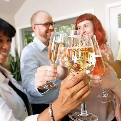 Celebrate Glass Wine Glass