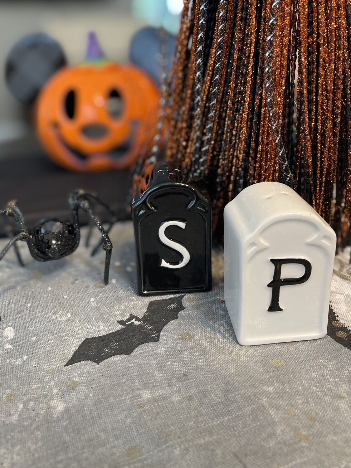 Tombstone Salt and Pepper Shakers