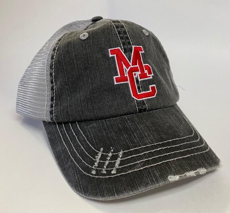 MC Mega Cap  Herringbone Trucker Cap Low Profile  6990