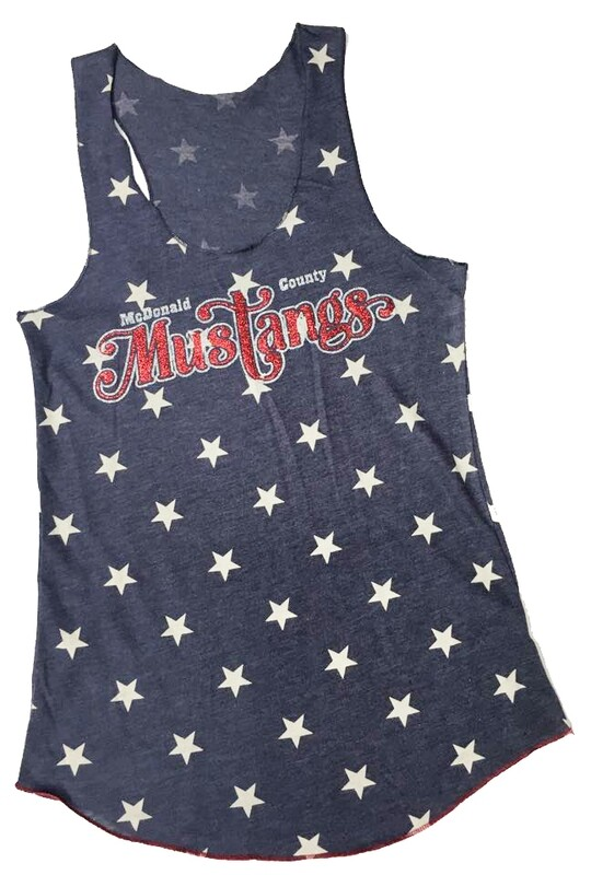 Racerback Tank With Glitter