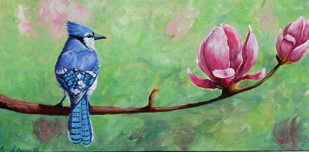 Magnolia & Blue, 8x16
