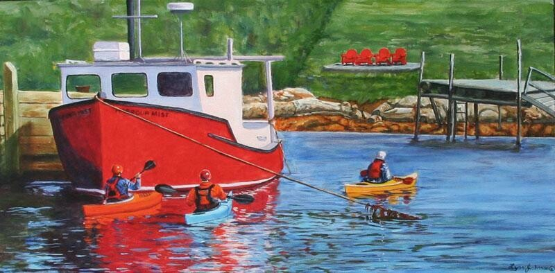Peggy's Cove Adventure 12x24