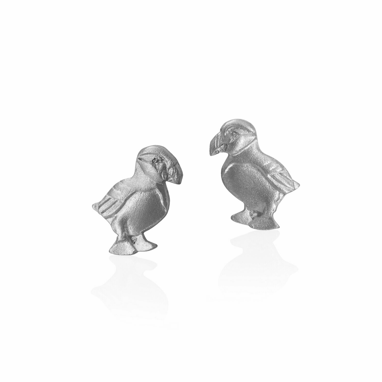 Amos Puffin Post Earring