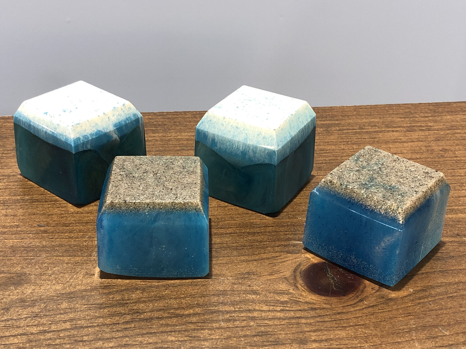 Resin Sea Cube Paperweight