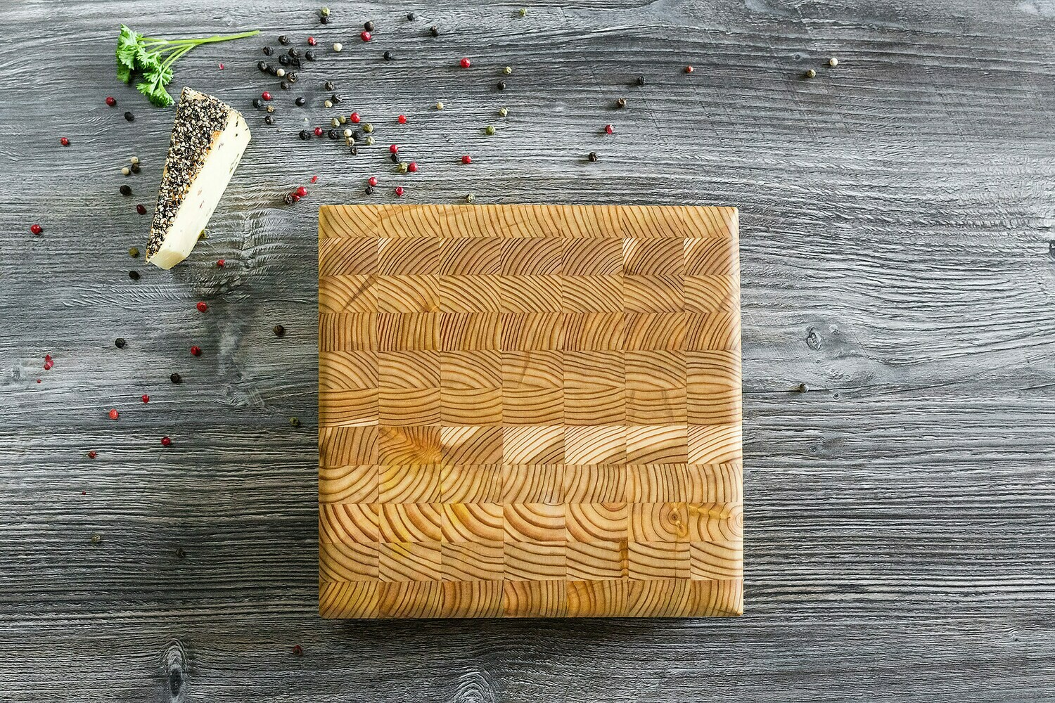 Larch Wood Canada Square Cheese Board