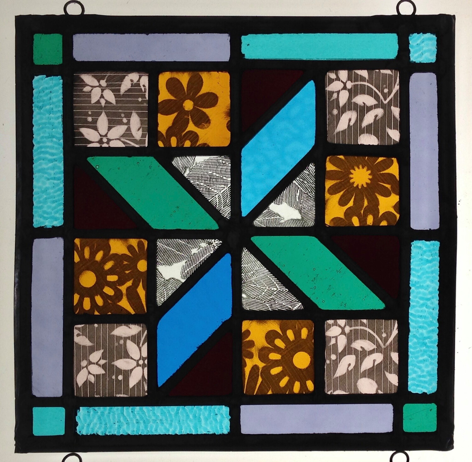 Square Stained Glass Panel