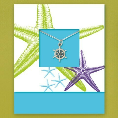 Pewter Sea Charm Card