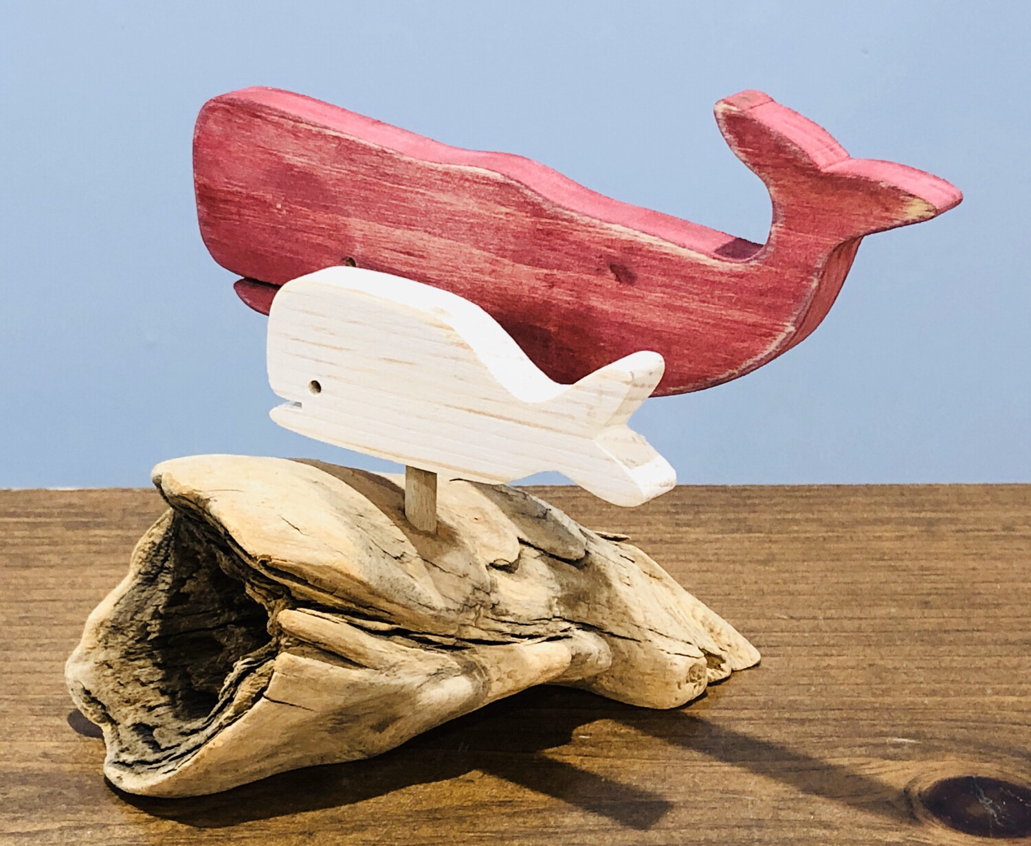 Red Whale and White Calf - Jerry Walsh
