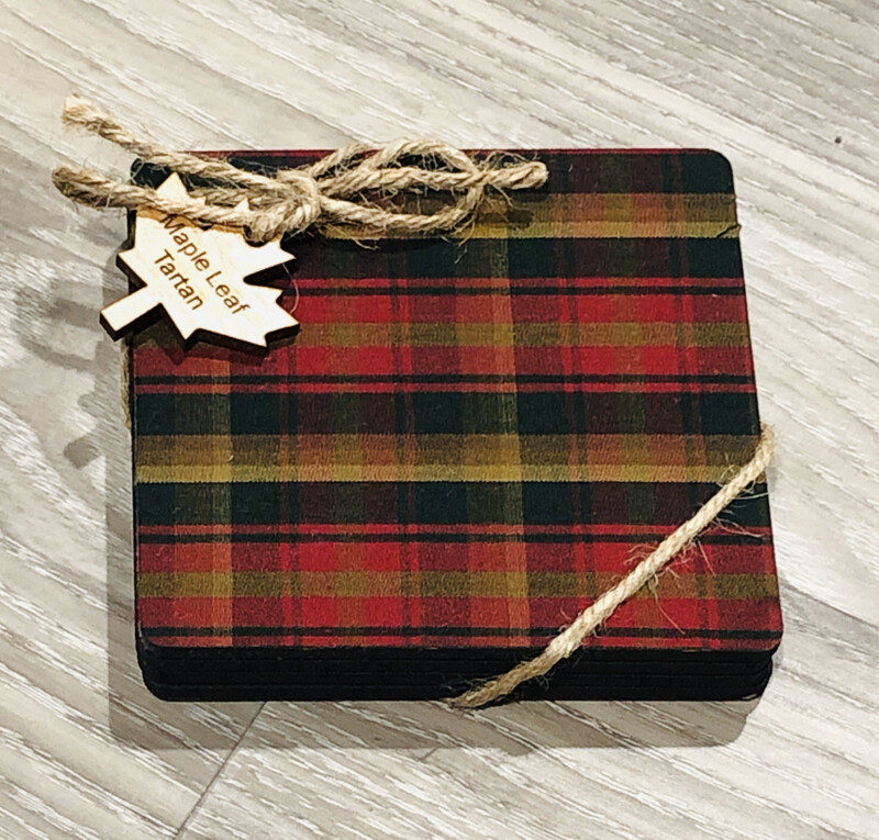 Salt Air Tartan Coasters