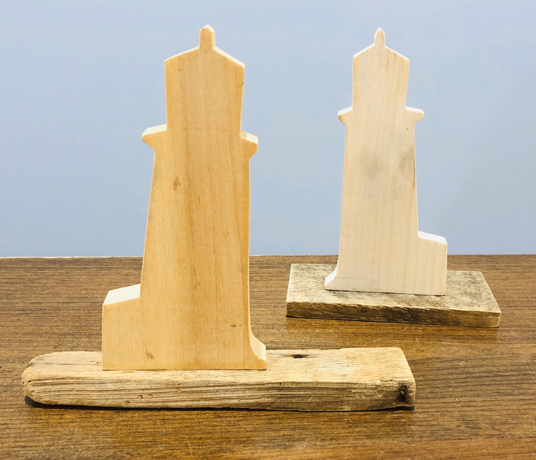 Jerry Walsh Lighthouse Medium Driftwood