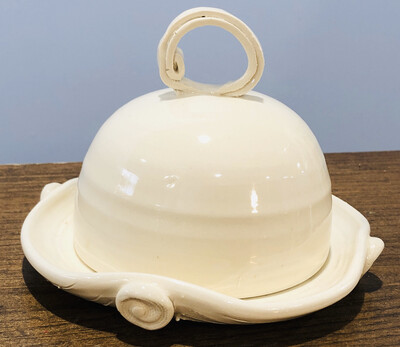 Cream Butter Dish GA