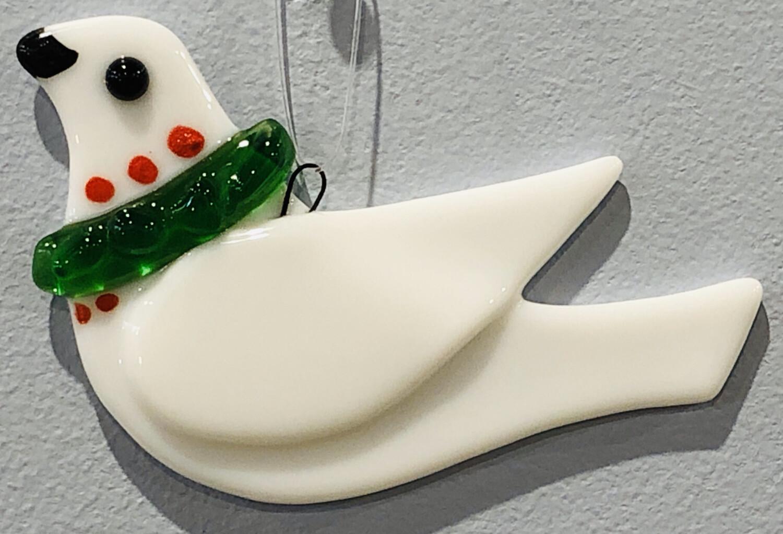 School Street Fused Glass Dove