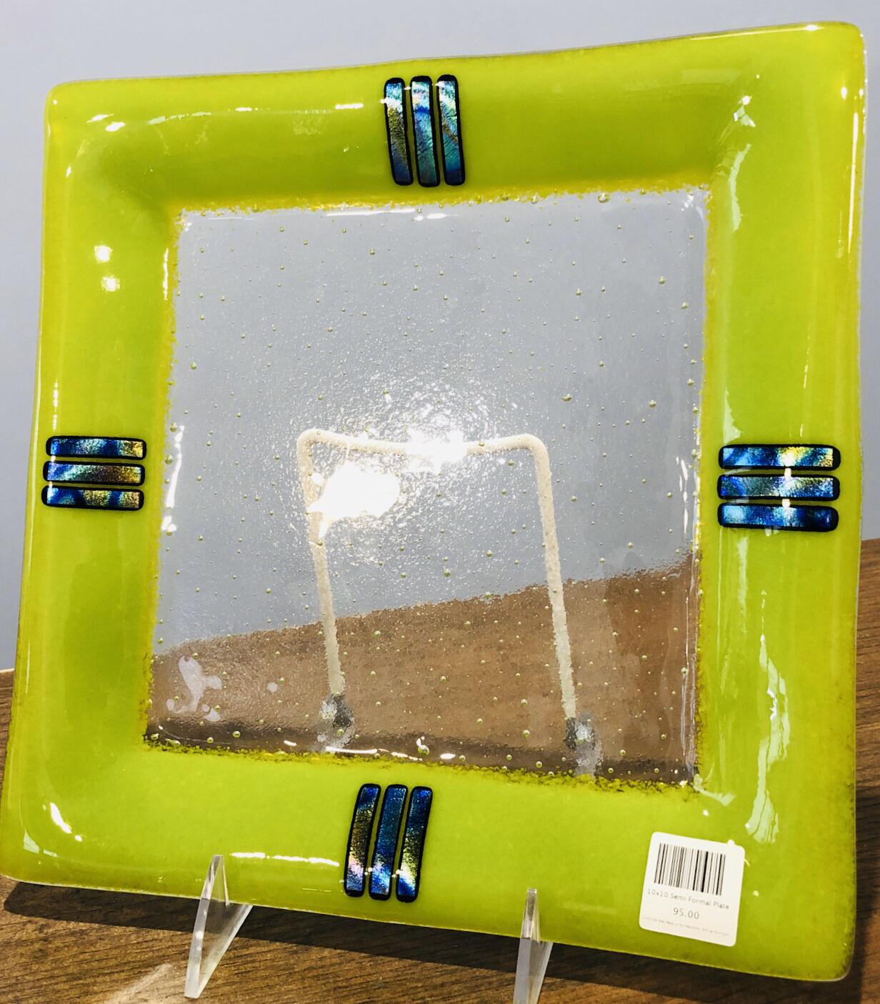 Kiln Art 10x10 Semi Formal Plate