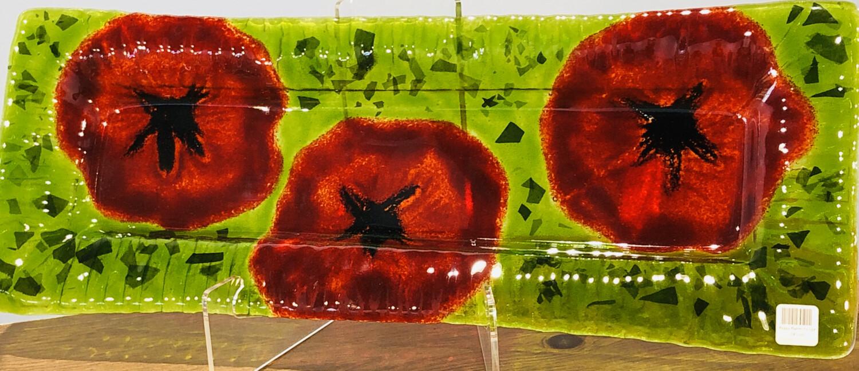 Poppy Platter, Extra Large - Kiln Art