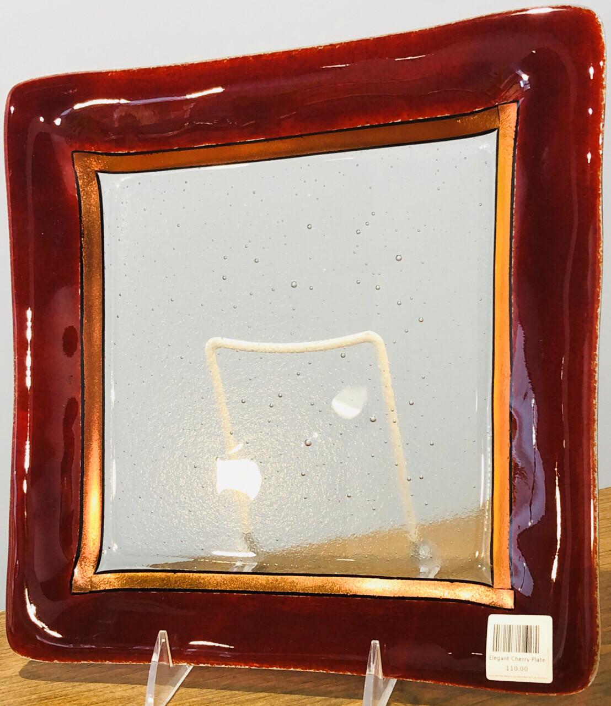 Kiln Art Elegant Cherry Plate