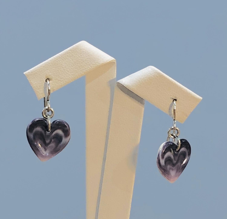 Indented Heart Earrings WE-13