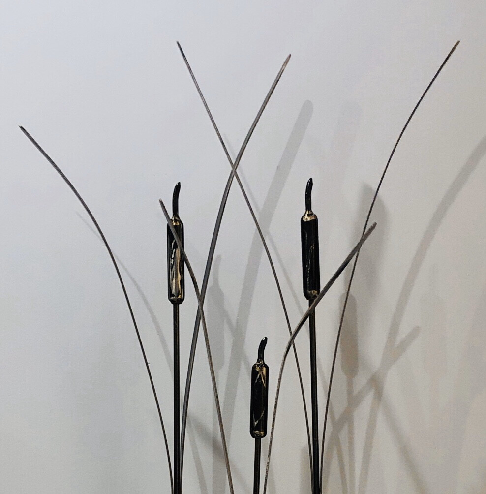Cattail Metal Sculpture