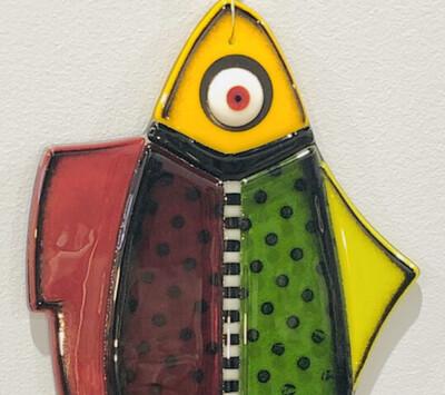 Illuminati Glass Works Fused Glass Hanging Fish
