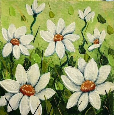 Forest Daisies 6x6