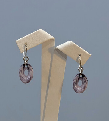 Oval Earring perforated We-05