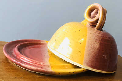 Red & Yellow Butter Dish - Alicia Kate