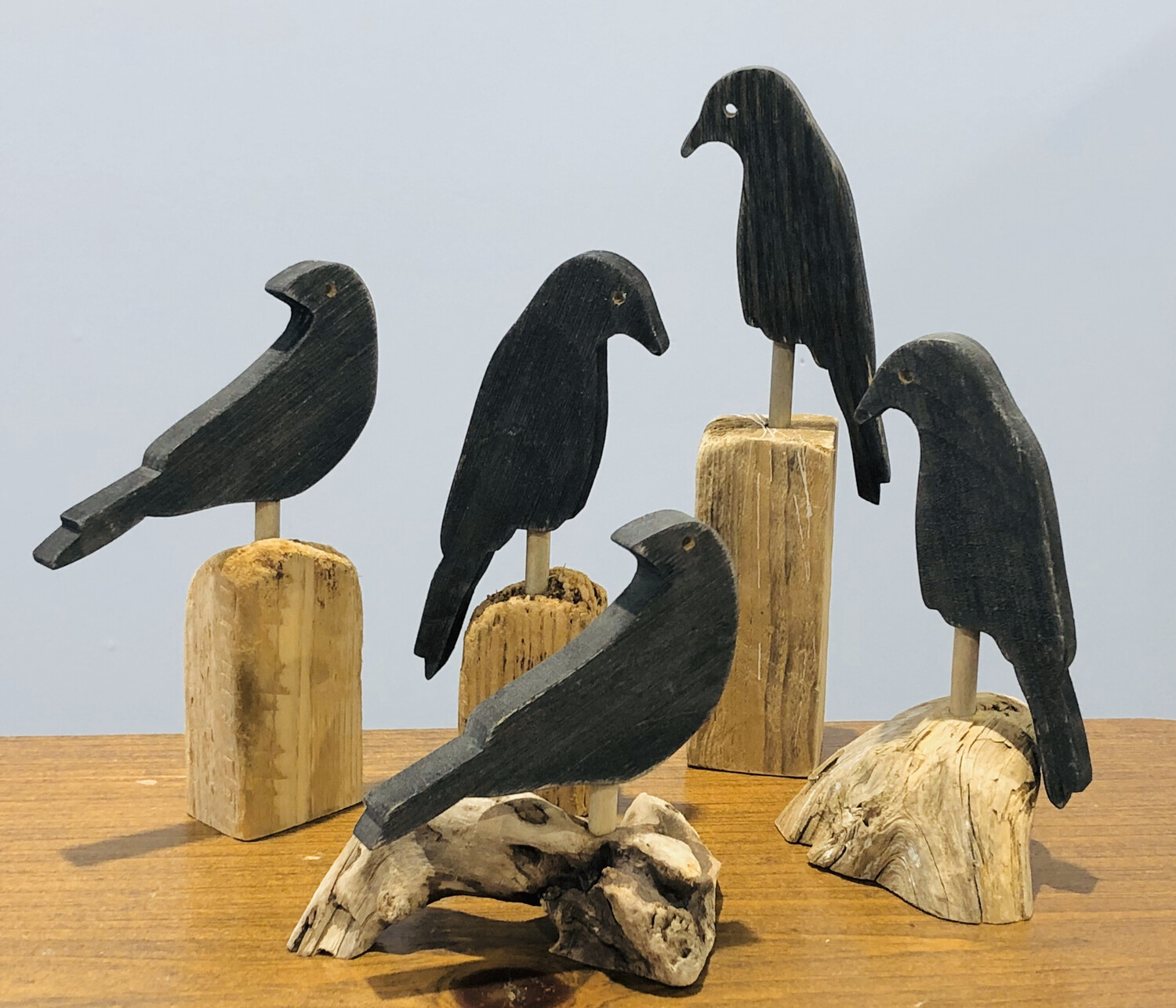 Small Crow on Driftwood - Jerry Walsh