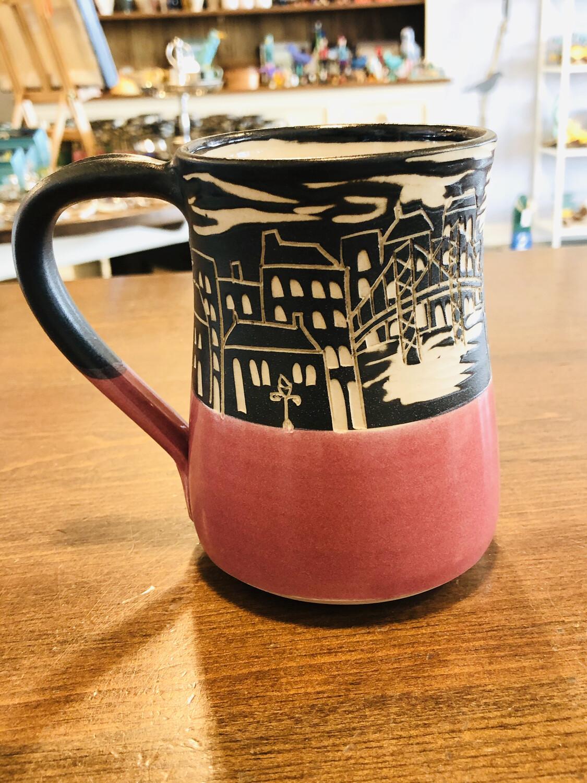 Halifax Skyline Mug - Raspberry