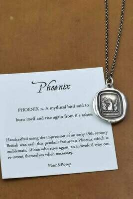 181-Phoenix Wax Seal Pendant