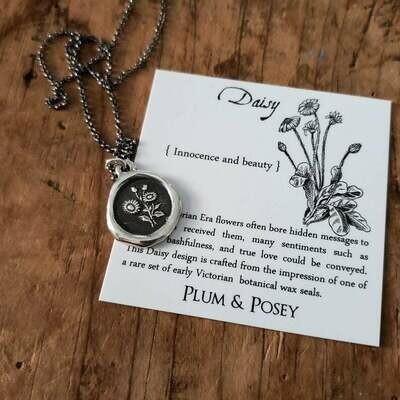 465-Daisy Wax Seal Pendant