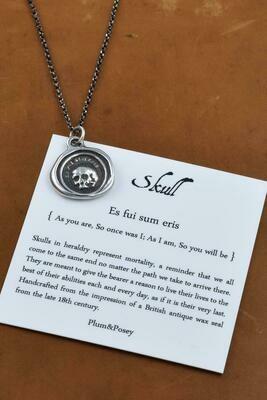 247-Skull Wax Seal Pendant