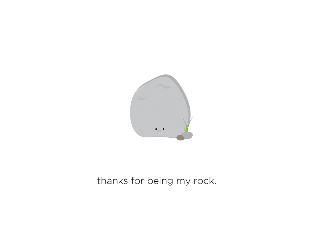Thanks For Being My Rock Card
