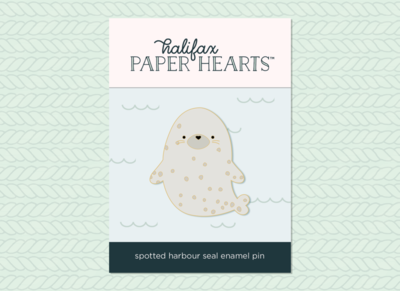Spotted Harbour Seal Enamel Pin