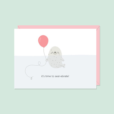 It's Time To Seal-ebrate! Card
