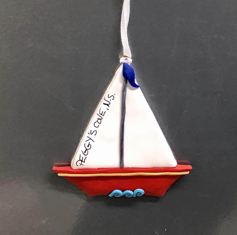 Roberta Boat Ornament