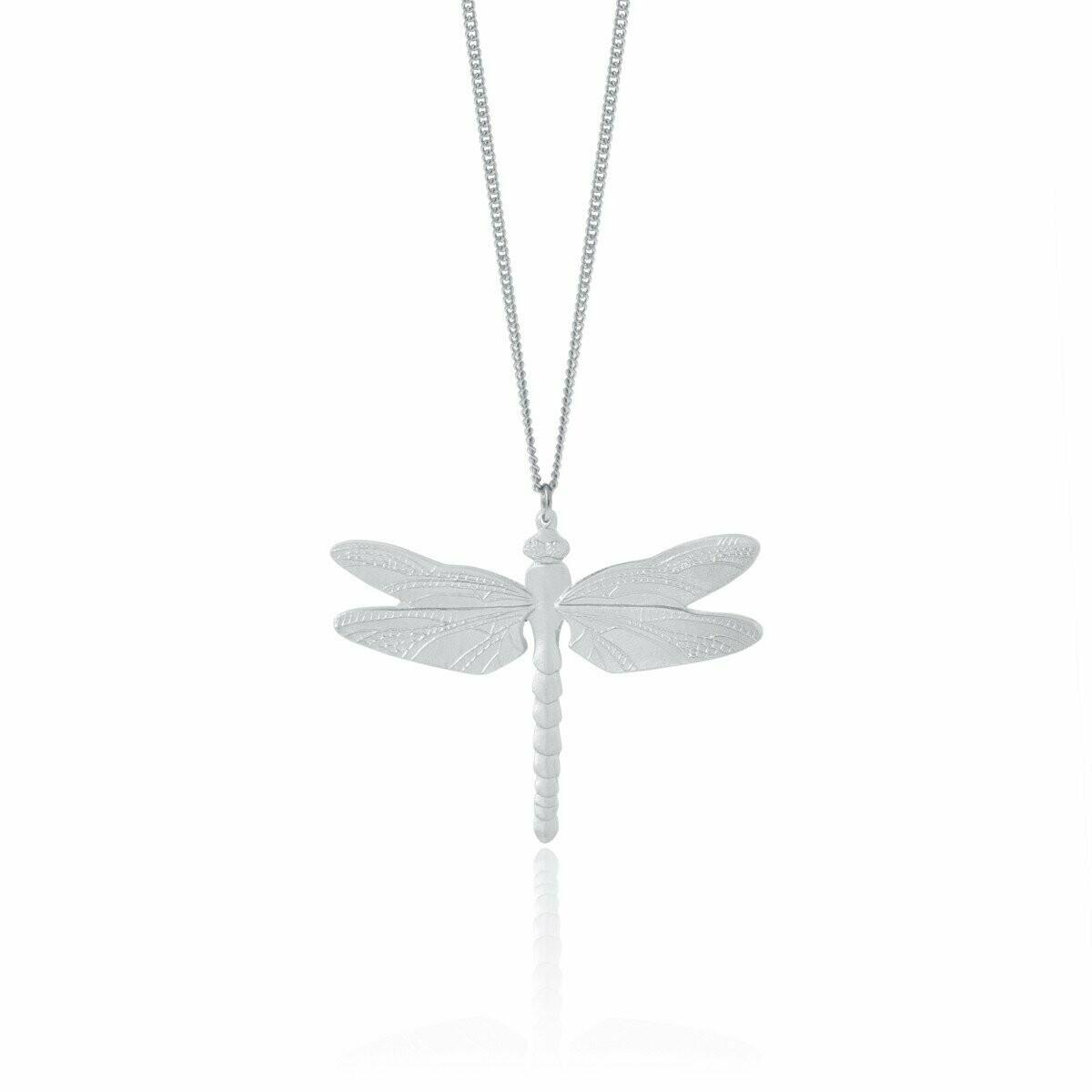 "Amos Dragonfly Pendant 18"""