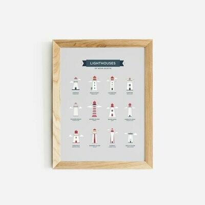 Lighthouses of Nova Scotia Paper Hearts