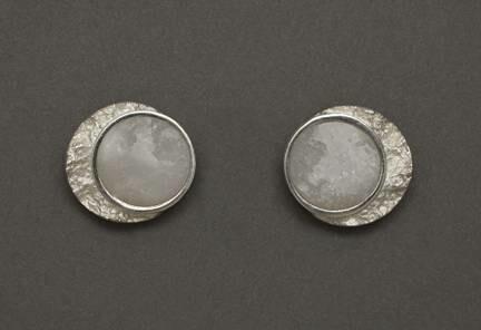 Frozen Moon Stud Earring - Allyson Simmie