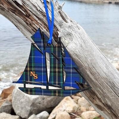 Salt Air Schooner Ornament