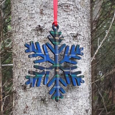 Salt Air Winter Fern Snowflake Ornament