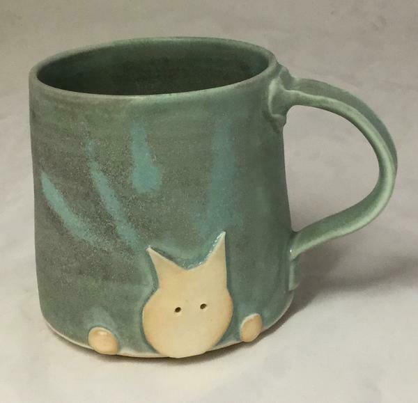 Aqua Cat Mug GA