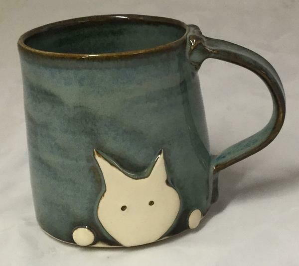 Denim Cat Mug GA