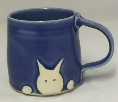 Sky Blue Cat Mug GA