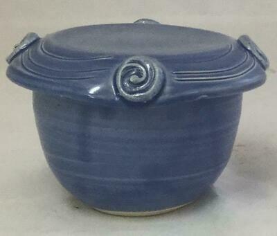 Sky Blue French Butter Dish GA